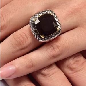 New! Black Onyx Sterling Silver Statement Ring